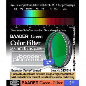 Filtro de color BAADER VERDE 500nm