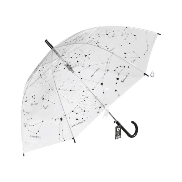Paraguas constelaciones adulto transparente